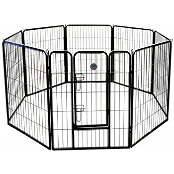 Go Pet Club Heavy Duty Pet Play and Exercise Pen with 8 Panels, 40-Inch