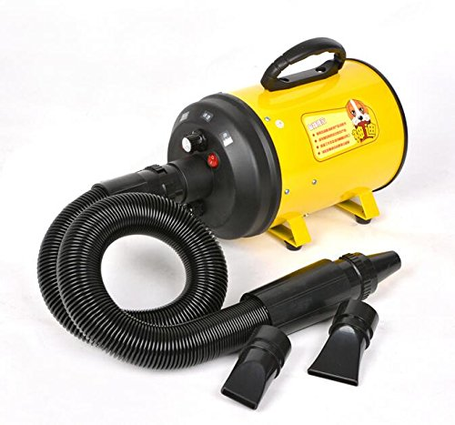 Eleoption Pet Dryer Dog Hair Dryer 220V 2800W Pet Variable Speed Dog Dryer (Yellow)