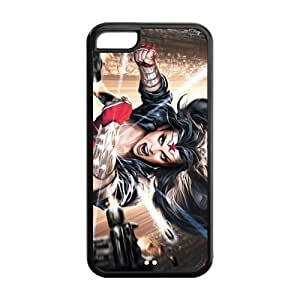 Customize Your Cartoon Wonder Woman Back Case Fits for iphone 5C JN5C-1570