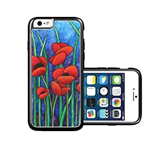 Red-Poppies iPhone 6 Case - Fits NEW Apple iPhone 6
