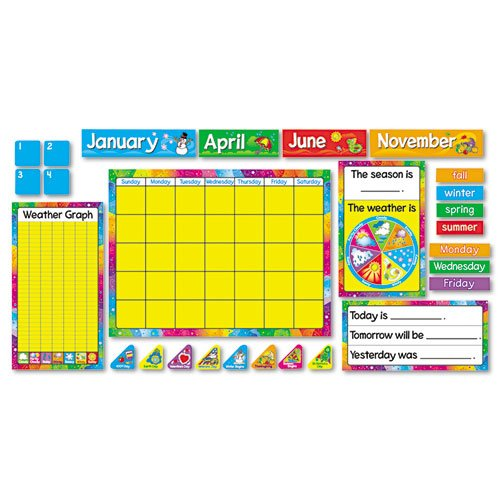 22' Classroom Decoration (Year Around Calendar Bulletin Board Set, 22'' x 17'', Sold as 1 Set)