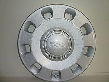 Juego de cuatro tapacubos con embellecedor para Fiat Nuova 500 desde 2007 R 14: Amazon.es: Coche y moto