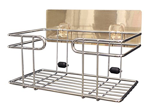 Review JustNile Wall-Mounted Shower Caddy/Toiletries Organizer/Detergent Holder, metal grill basket, with By Happy Home Products by Happy Home Products