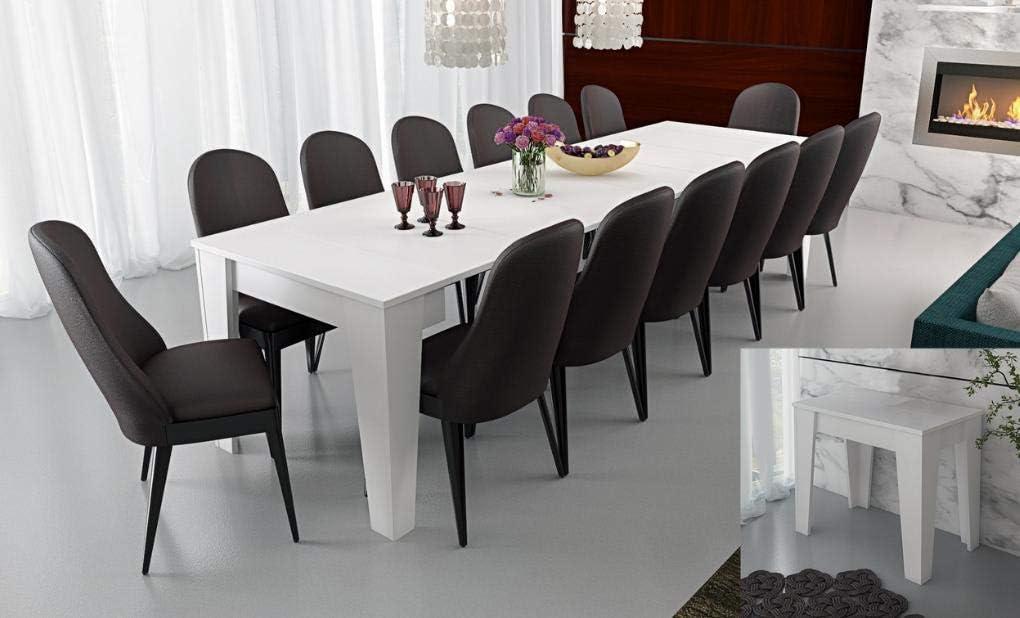 Bianco Frassino Am Group Home Tavolo consolle allungabile Fino a 300 cm Modello Adriana