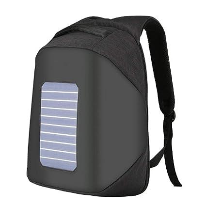 Claymore Mochila Solar Impermeable y antirrobo, Llevar Libros o portátil para Trabajar, Escuela o