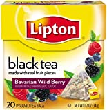 Lipton Black Tea Pyramids, Bavarian Wild Berry 20 ct
