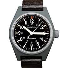 MARATHON WW194015 Swiss Made Military Field Army Watch with Date, Tritium, and Sapphire Crystal (Sage Green)