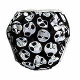 Hibaby One Size Reusable Adjustable Swim Diaper - 7 New Designs Choice (Skull)