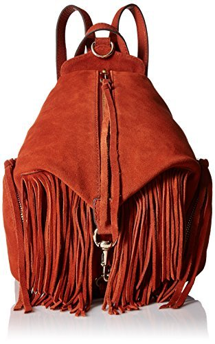 Rebecca Minkoff Women's Fringe Medium Julian Backpack Baked Clay [並行輸入品] B075PXMCN7