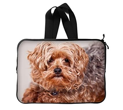 Amazoncom Yorkie Poodle Mix Dog Custom Laptop Sleeve Cover Laptop