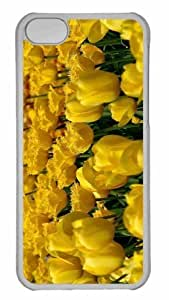 Customized iphone 5C PC Transparent Case - Yellow Tulips 3 Personalized Cover