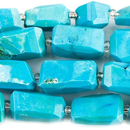 Turquoise Howlite Faceted Nugget Beads 15 inches 24 ()