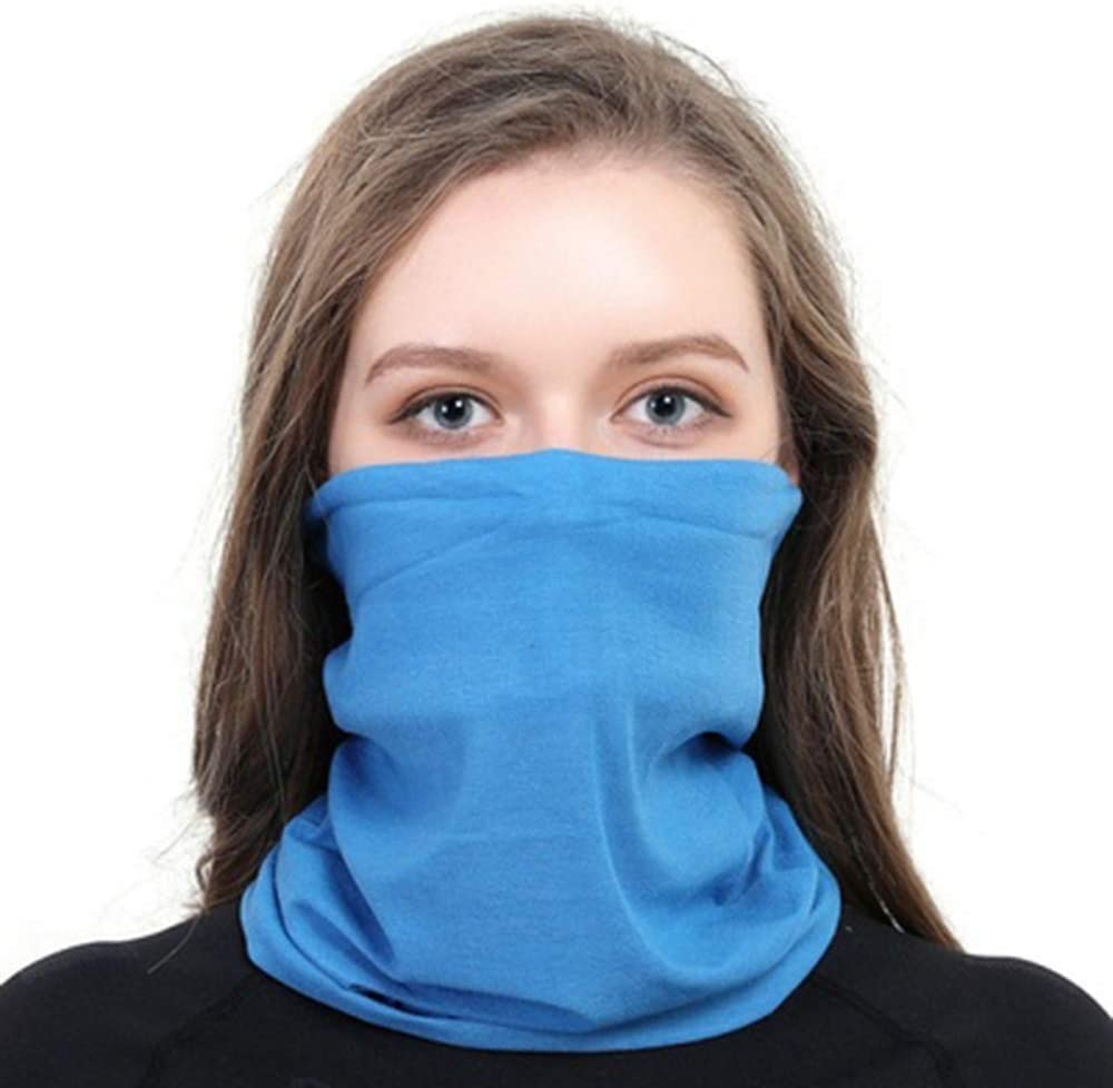 HHDD UV Protection Face Mask Neck Gaiter Scarf Sunscreen Non Slip Light Breathable Bandana Balaclava for Sun Wind Outdoor Multi Function Washcloth Bicycle,1