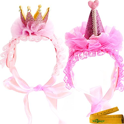 Wiz BBQT 2 Pcs Adorable Cute Cat Dog Pet Hair Head Bands Accessories for Kitten Puppy Small Dogs Cats Pets (D)