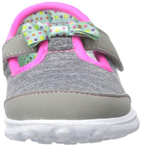 Skechers Kids Go Walk Bitty Bow Sneaker (Toddler/Little Kid),Gray/Multi, by Skechers (Image #4)