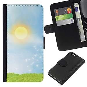 KLONGSHOP // Tirón de la caja Cartera de cuero con ranuras para tarjetas - Prairie - Apple Iphone 5C //