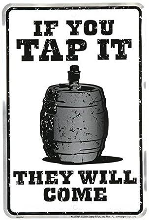 Amazon.com: Si Lo llave, vendrán – cerveza barril divertido ...