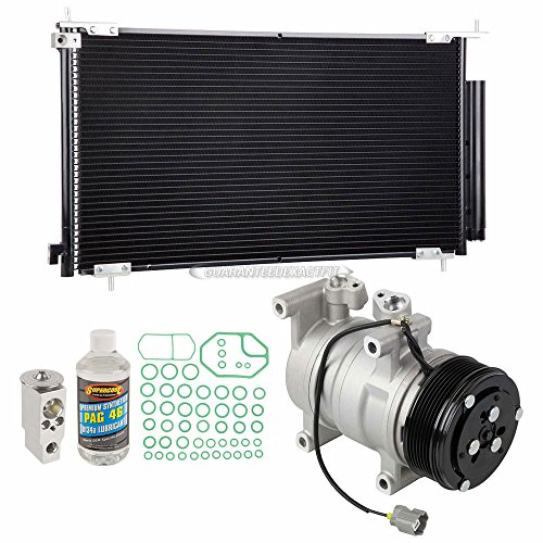 AC Compressor w/A/C Condenser & Repair Kit For Honda CR-V 2002-2006 - BuyAutoParts 60-80501R6 New