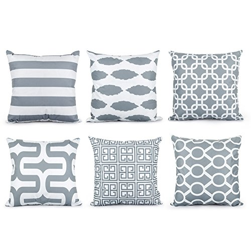 Top Finel Square Decorative Throw Pillow Cases Soft Microfib