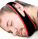 Anti Snoring Chin Strap Red & Black, Sleep Aid Devices, Snoring Chin Strips, Stop Snoring, Non Snoring, Sleeping Aids, Stop Snoring Chin Strap by North America Solutions