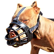 Dog Muzzle-Soft Basket Muzzle for Dogs Adjustable and Comfortable Secure Fit,Best to Prevent Biting,Chewing and Barking Head Snout 18.5-24''