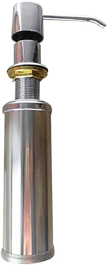 Wovemster Soap Dispenser Stainless Steel Faucet Sink Soap Dispenser Liquid Soap Lotion Dispenser Pump Bottle Kitchen Replace Bottle A