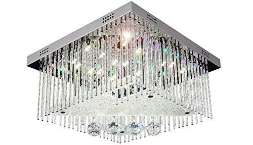 Plafoniere Inox Soffitto : Cambiare colore led cristallo lampadario plafoniera lampadari