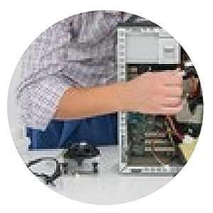 alfombrilla de ratón técnico joven que trabaja en equipo roto - ronda - 20cm