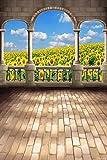 GladsBuy Beautiful Sunflower 6' x 9' Digital Printed Photography Backdrop KA Series Background KA036