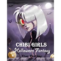 Chibi Girls : Halloween Fantary: An Adult Coloring Book with Horror Girls (New Cover)