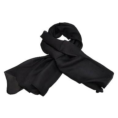 TOUTACOO, Foulard Carré 100% Soie .Noir - Couleur 01-Noir  Amazon.fr   Vêtements et accessoires ffaf5325f1d