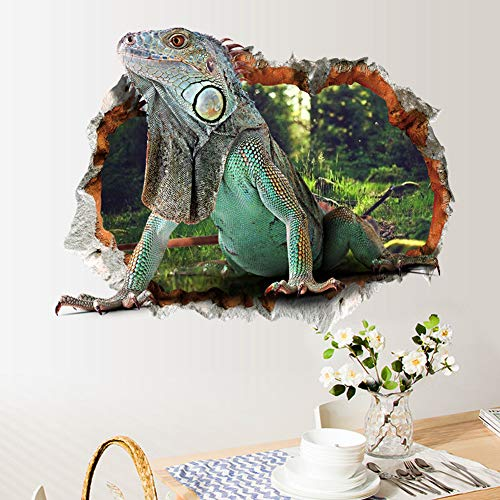 Ocamo Halloween 3D Removable Lizard Pattern Wall Sticker Poster Wallpaper Decor Decal for Kids Room Door Glass Window ()