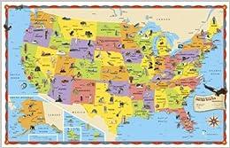Book Rand McNally Illustrated U.S. Map: Big Bright Map, Colorful Art! by Rand McNally (2011-10-03)