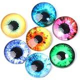 20 ojos de cristal irisados multicolor para peluches, muñecas, needle fleting muñecos, animalitos, afieltrar lana, manualidades, scrapbooking..2 cm. de OPEN BUY