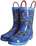 Smooth MX Superstars Youth Rain Boots, Primary Color: Blue, Size: 12, Gender: Boys, Size Segment: Youth 3001-012