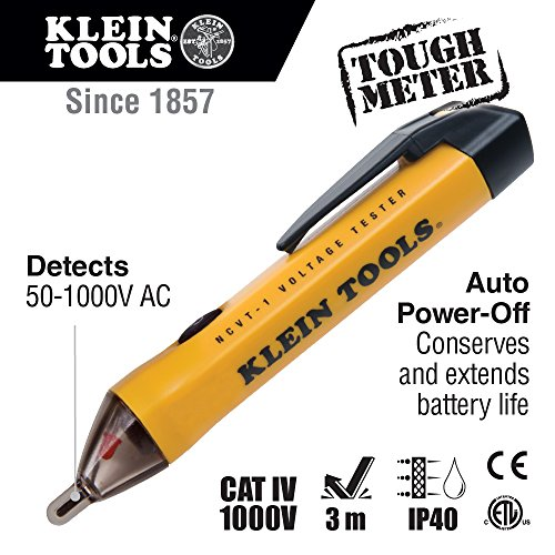 klein tools ncvt 1 non contact voltage tester with low battery indicator and auto shutdown buy. Black Bedroom Furniture Sets. Home Design Ideas