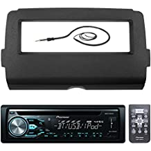 """Pioneer DEH-X4800BT Marine Bluetooth Radio USB AUX CD MP3 WMA Audio Receiver Bundle Combo With Scosche Installation Dash Kit for 2014 and Up Harley Motorcycle, Enrock 22"""" Radio Antenna"""