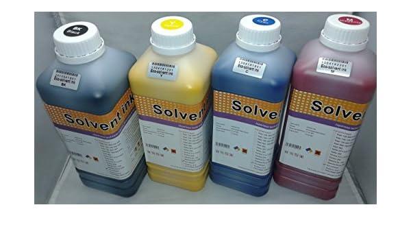 Tinta SOLVENTE Eco para Mutoh/Roland/Mimaki impresoras de gran formato 4 colores/4 litros: Amazon.es: Oficina y papelería