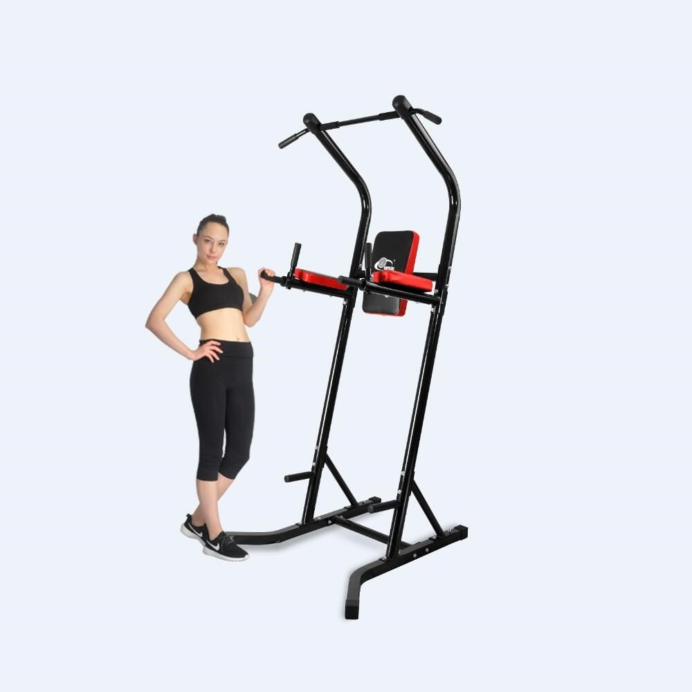 Sports Equipment Power Tower Pull Up Bar Standing Tower,Body Champ Fitness Multi function Power Tower / Multi station for Home Office Gym Dip Stands Pull Up Space Saving, BLACK,Crystal Fit SJ-600