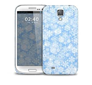 snow flakes blue Samsung Galaxy S4 GS4 protective phone case