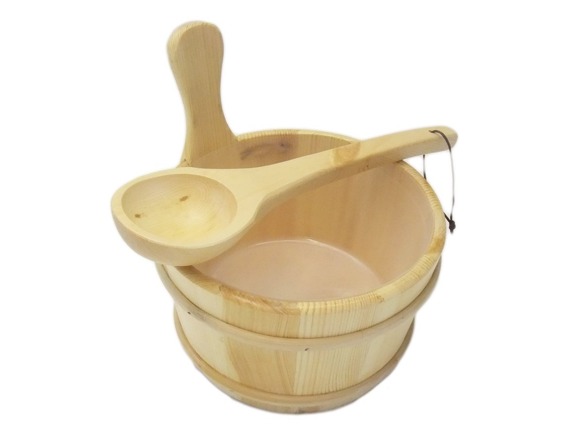 Standard Sauna Bucket and Ladle with Leak-Proof Saunaeimer Sauna Set Nordex Sauna EB-Onlinehandel