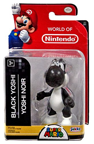 "World of Nintendo 91427 2.5"" Black Yoshi Action Figure"