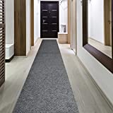 iCustomRug Indoor/Outdoor Utility Berber Loop Carpet Runner And Area Rugs In Grey, Many Sizes Available