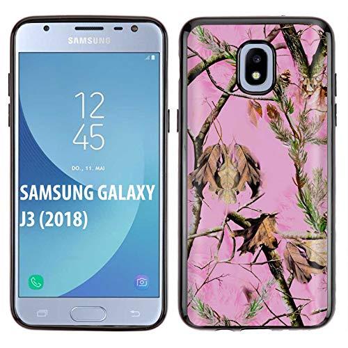 [NakedShield] Samsung Galaxy J3 2018/Amp Prime 3/Express Prime 3/Achieve/Star/J338 [Black] Ultra Slim TPU Phone Cover Case [Pink Hunter Camo Print]