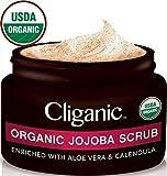 Cliganic USDA Organic Face Scrub, 100% Natural   Enriched with Jojoba,...