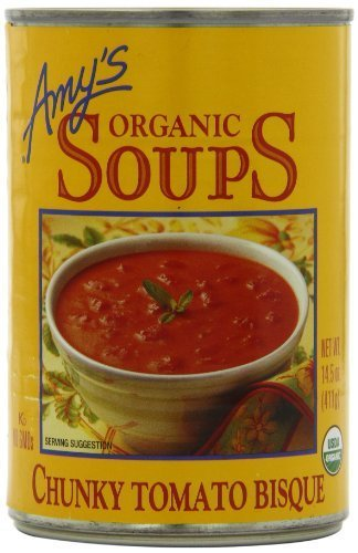Amy's Organic Chunky Tomato Bisque, 14.5-Ounce Cans (Pack of - Bisque Tomato Chunky Organic