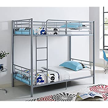 Amazoncom Mainstays Premium Metal Twin Over Twin Bunk Bed Black