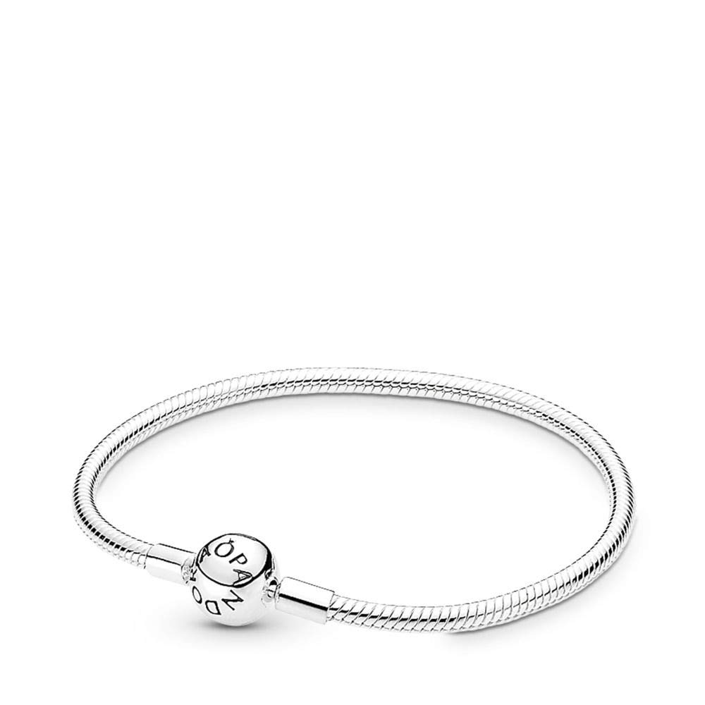 PANDORA Smooth Silver Clasp Bracelet, Sterling Silver, 7.9 in by PANDORA