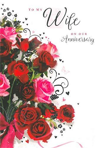Tarjeta de felicitación de dorado esposa boda - de rosas, diseño ...