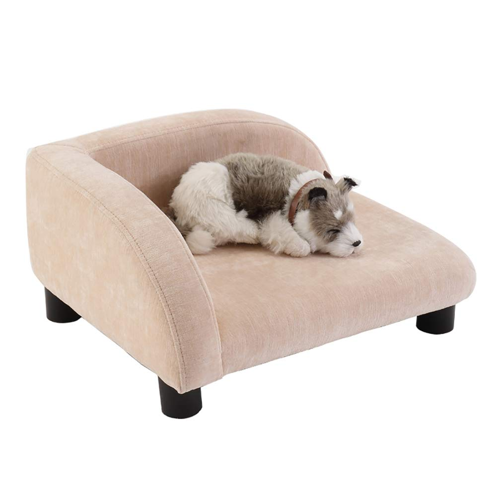 46x38x23cm Dog bed Cat Houses Plush Cloth Dog Bed & Sofa, Dog Houses Cat Sofas with Wood Feet for Living Room & Bedroom (Size   46x38x23cm)